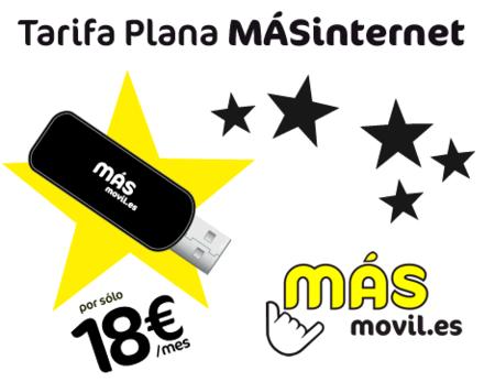 Más móvil lanza 1GB de datos por 18 euros