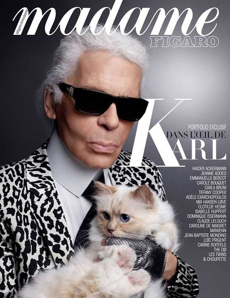 Karl Lagerfeld Covers Madame Figaro January 2016