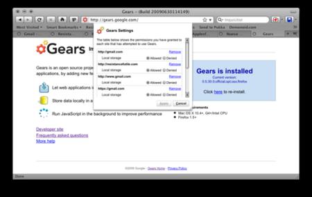 Utiliza Google Gears en Firefox 3.5