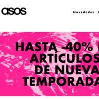 En ASOS tenemos hasta un 40% de descuento en la nueva temporada por tiempo limitado