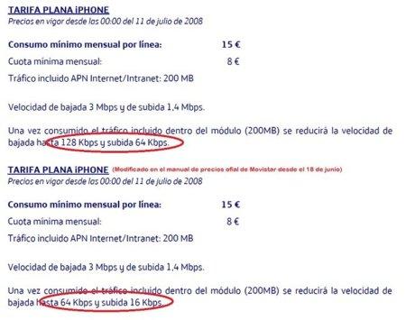 Movistar aclara que el mensaje de reducción de velocidad en la tarifa iPhone ha sido un error