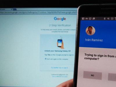 Cómo usar Google Prompt para iniciar sesión con la identificación en dos pasos