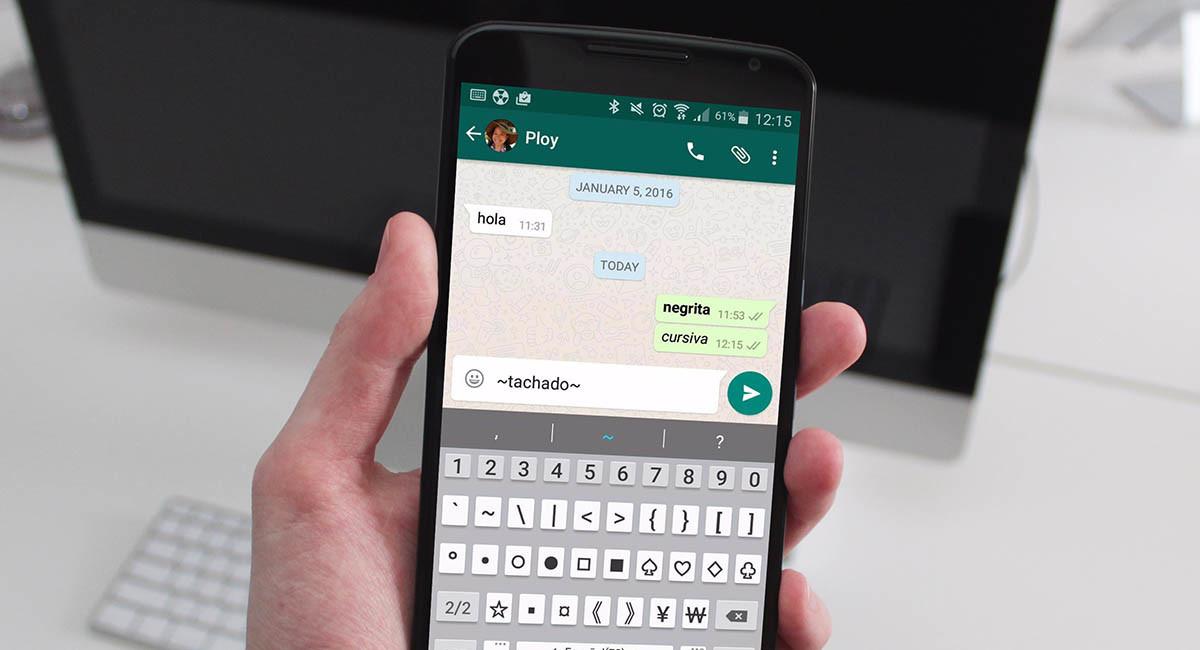 Cómo usar negrita, cursiva y tachado en WhatsApp