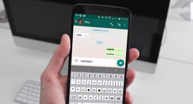 WhatsApp Kursiv
