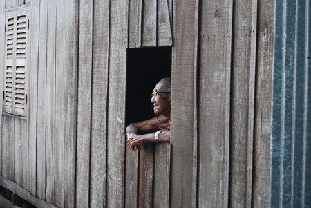 Poblado Flotante Cham sobre el Delta del Mekong
