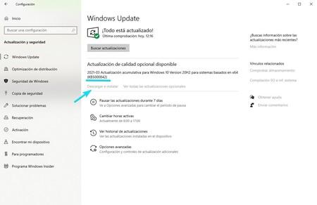 Actualizacion Acumulativa Windows 10
