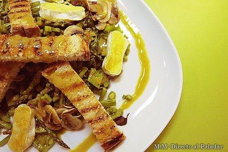 Receta de ensalada templada de espinacas y verduritas