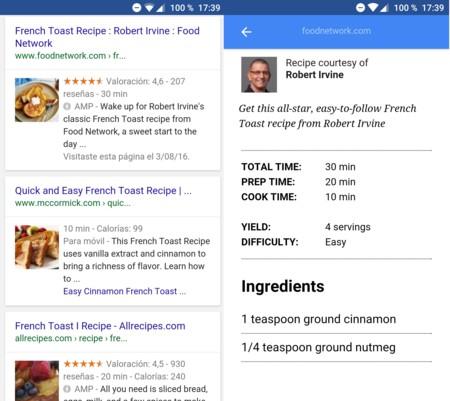 Google te permite la vista previa de Páginas Móviles Aceleradas en la búsqueda