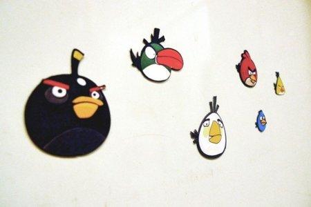 Imanes de Angry Birds... las aves toman la nevera