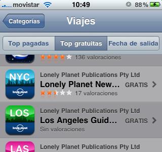 Aplicaciones viajeras para el iPhone: Guías gratis Lonely Planet (hoy y mañana)