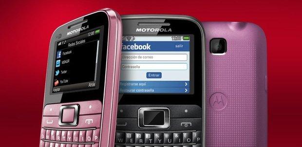MotoKey EX116 negro y rosa
