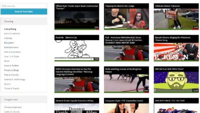 Toogles, una interfaz alternativa y minimalista para YouTube