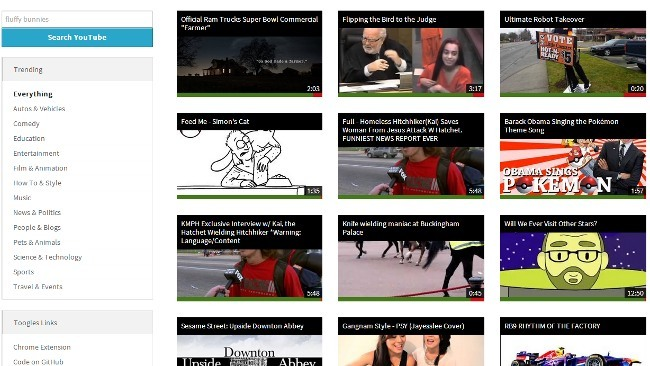 Toogles, una interfaz alternativa y minimalista para YouTube