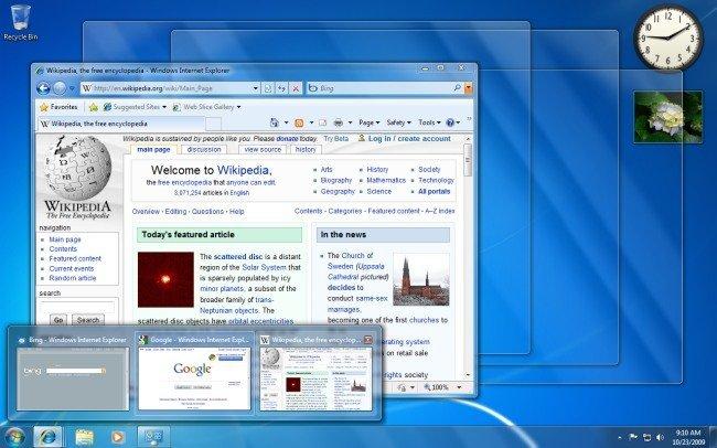 Aero en Windows 7 Basic
