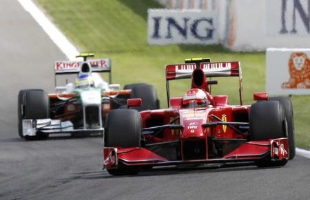 Raikkonen Fisichella Spa F1 2009