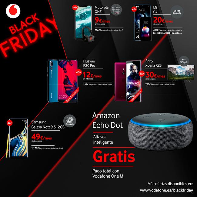 Xperia XZ3 con un Smart TV Sony Bravia de regalo o un Huawei P20 Pro por sólo 12 euros/mes: este es el Black Friday de Vodafone