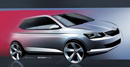 Esbozando el nuevo Škoda Fabia antes de París