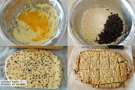 Garibaldi biscuits. Pasos
