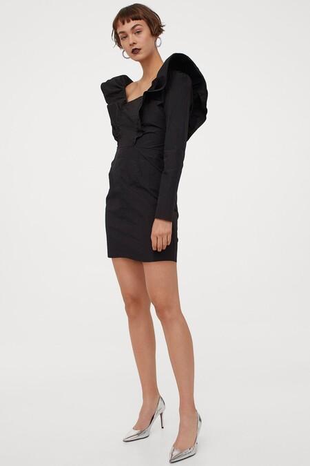 Vestido Navidad 2020 Hm Negro 02