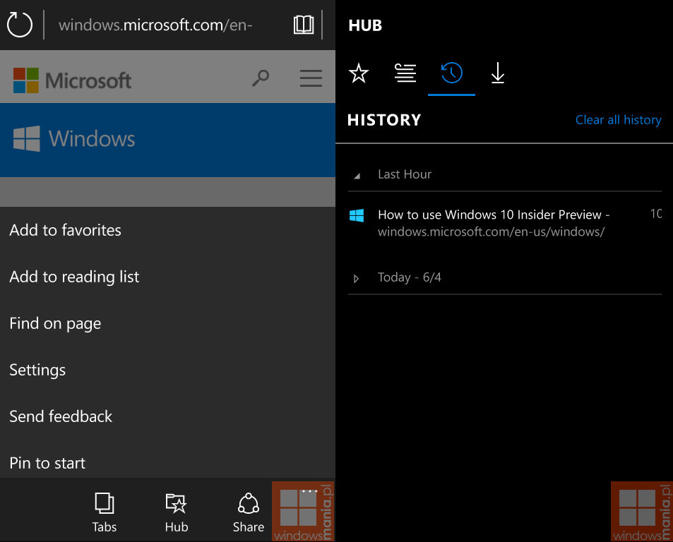 Windows 10 Mobile build 10034