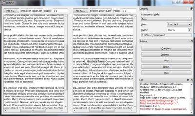 DiffPDF, una pequeña utilidad para comparar documentos PDF