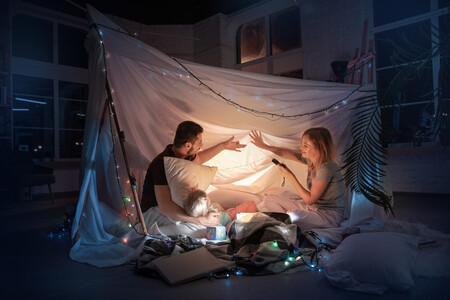 acampada en el salón