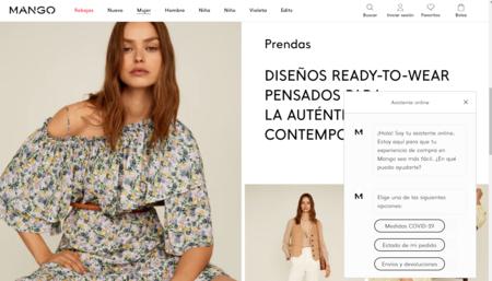 Mango estrena un chat automatizado para atender a los clientes que llegan a su tienda online y esto es lo que se puede preguntar