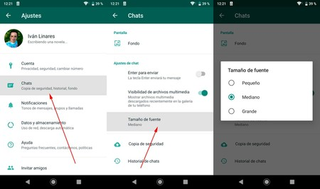 Cambiar Tamaño Letra Whatsapp Android