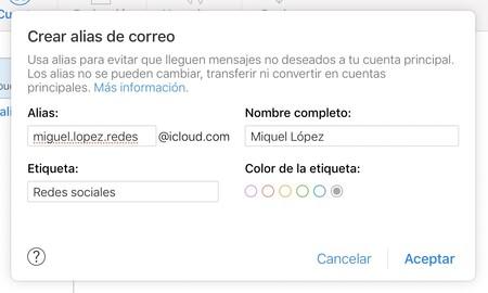 Icloud Mail Alias Apple Opciones