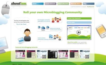 Shout´Em, crea tus redes de microblogging a tu gusto