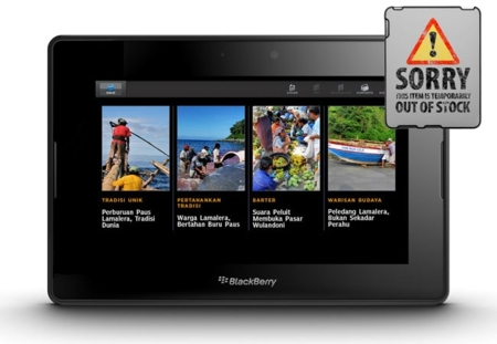 RIM retira el tablet BlackBerry PlayBook
