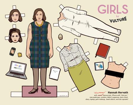 Los recortables de los protagonistas de 'Girls', la imagen de la semana