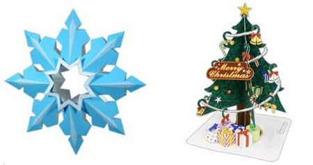 Decoración de Navidad con figuras de papel