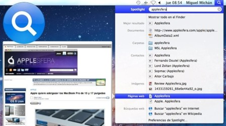 Spotlight Apple OS X