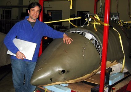 Tiburón-submarino-monoplaza, discreción de escualo