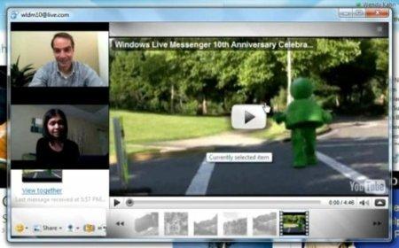 Windows Live Messenger integrado con YouTube