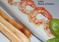 Langostinos avainillados con salsa de wasabi ligera