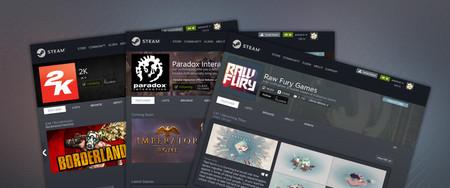 Las páginas de desarrollador y editor llegan a Steam, y eso es especialmente interesante