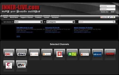 Inner-Live, canales de televisión vía streaming de 40 países