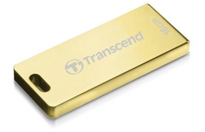 Transcend Jetflash T3G, memoria resistente en color oro