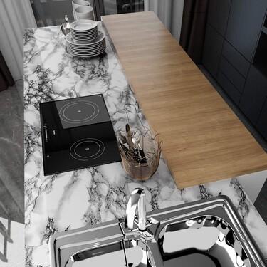 ¿Te cansa la encimera de la cocina? Renuévala con un vinilo autoadhesivo