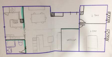 C mo distribuyo la reforma de mi casa decoesfera responde - Orientacion de un piso ...