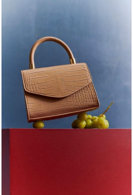 Nude Croc Handbag Wk 3 Eur8 9 Gbp6