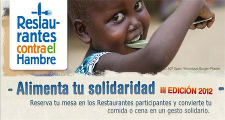 Éxito en la tercera edición de 'Restaurantes contra el hambre' para luchar contra la desnutrición infantil