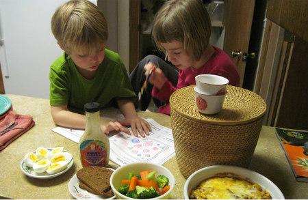 Involucrar a los niños en la cocina