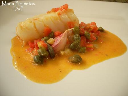 Bacalao con tomate y alcaparras, receta
