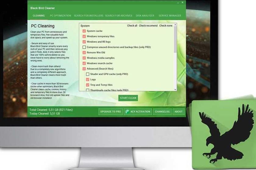Black Bird Cleaner, una herramienta ligera para limpiar y optimizar Windows