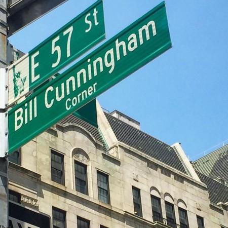 Bill Cunningham tiene su propio cruce en la ciudad de Nueva York (de manera temporal)