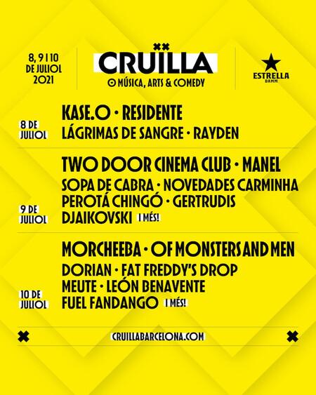 Cruilla Festival 2021 Cartel