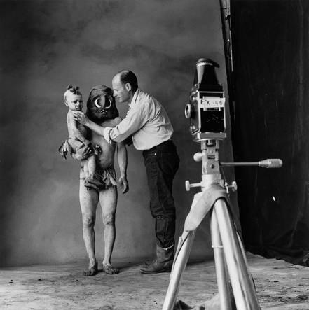 Irving Penn en su estudio